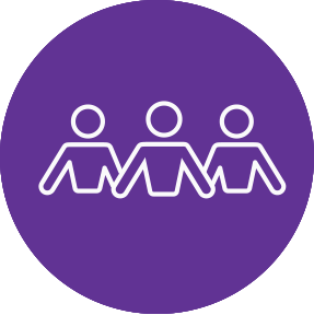 Icon of three people representing Recovery Stories