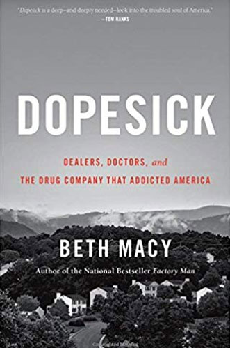Book cover of Dopesick by Beth Macy